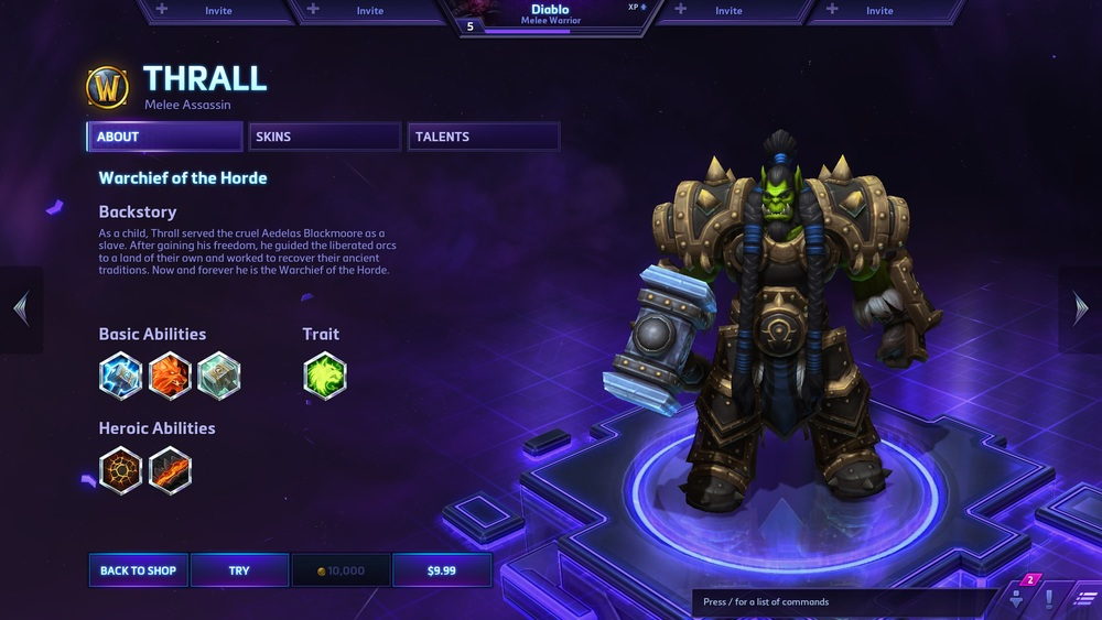 Screenshot of Heroes of the Storm by Gabe Wood.