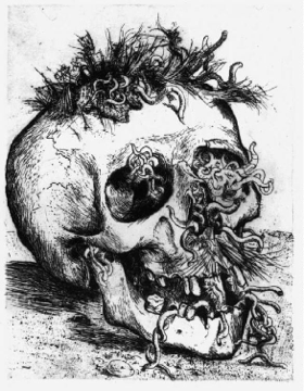 Skull, part of Der Krieg