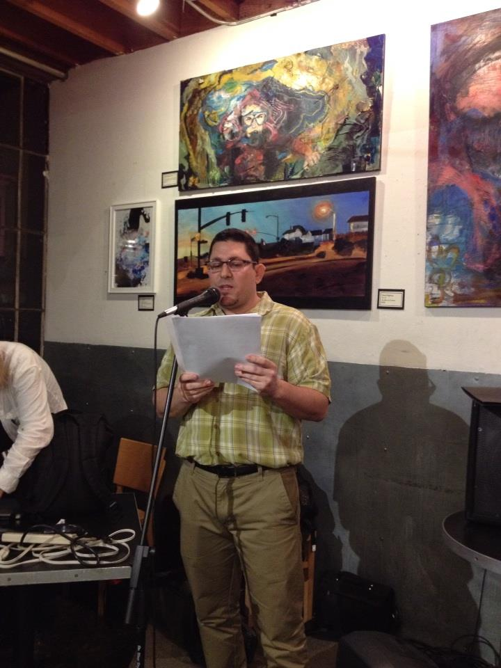 Daniel Gonzalez came all the way from Chicago to read an excerpt from his novel about an encounter in a very cold bar involving mojitos and polar bear costumes.