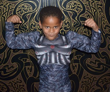 Halloween 2012: a Youth Empowerment Project 'WEENSTER shows off his costume