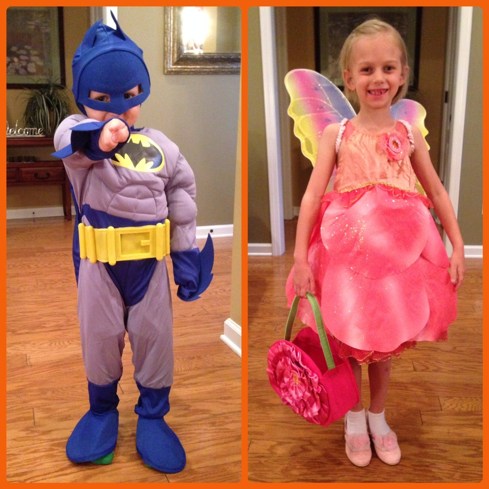 "October 2014: Jett and his sister Ava, who is battling brain cancer, having a ball in their 'WEEN DREAM costumes.  From their mom: "" Thank you, 'Ween Dream, for sending Ava and Jett their Halloween costumes. This is a great organization that provides Halloween costumes to special kids. Thank you, Kelsey, for sending them!!"""