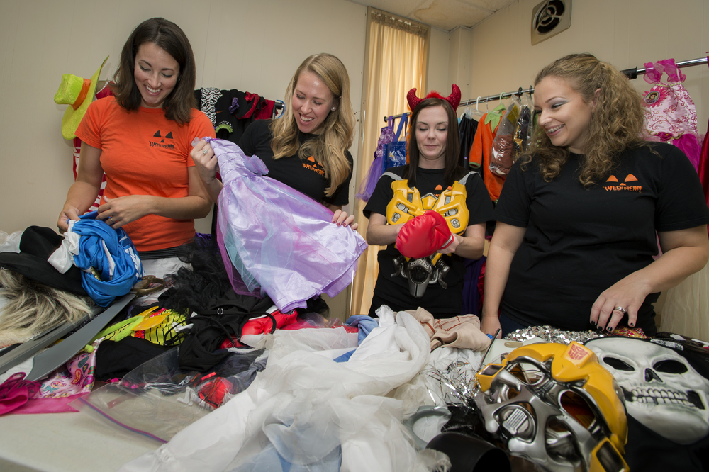 September 2014: the 'WEEN TEAM sorts costumes at 'WEEN DREAM headquarters