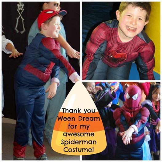 "Halloween 2014: Meet our sweet 'WEENSTER, Andrew, whose mom made this collage for us showing ""Super Andrew"" in his Spider-Man costume, which he wore in a very competitive dance contest that he won!  Way to go, Andrew!"