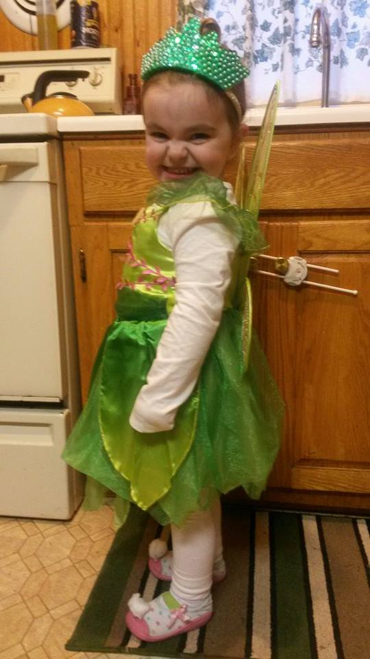 Halloween 2014: Here's sweet Sophie, one of our little 'WEENSTERS, who dressed up as the cutest Tinkerbell ever!
