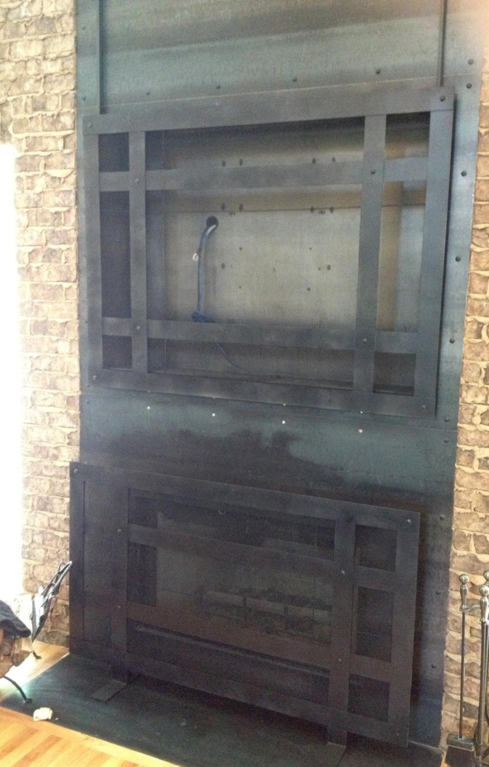Steel Fireplace & TV Screens