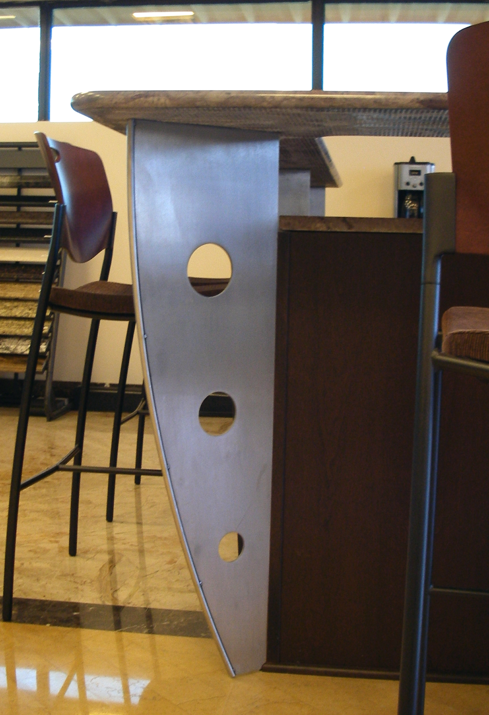Stainless Steel Countertop Support Leg