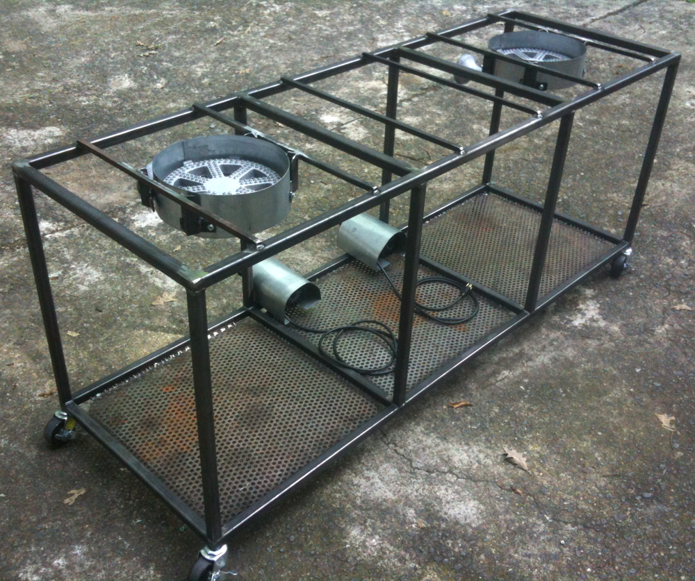 Steel Burner Cart