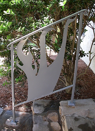 "Painted Mild Steel ""Shin"" Railing"