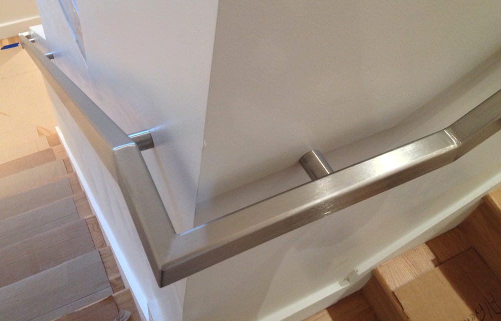 """Diego"" Stainless Steel Handrail with Standoffs"