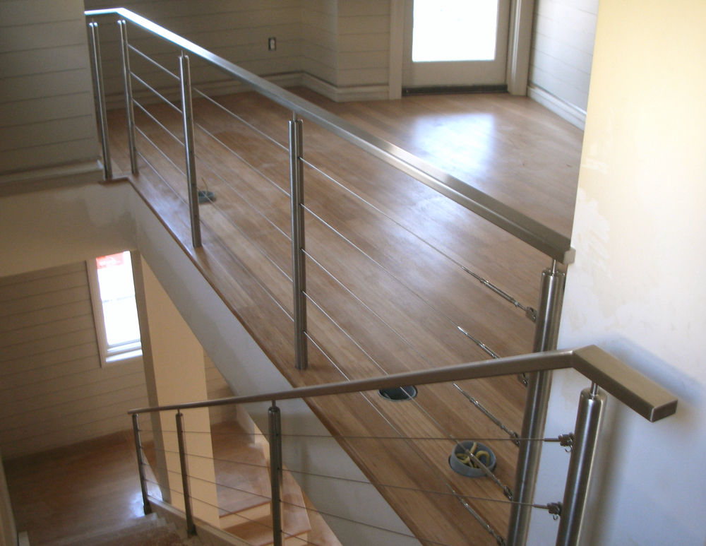 Stainless Steel Cable Railing with Round Posts & Standoffs