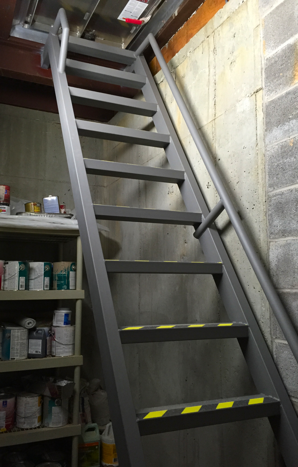 Safe Room Ladder & Railing