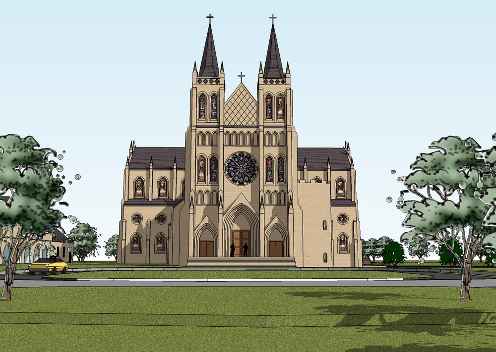 Design for a 1500 Seat Parish Church