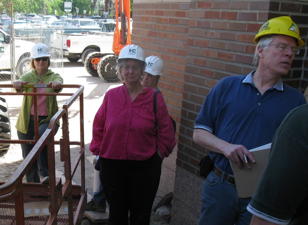 Field inspection with the Building Committee