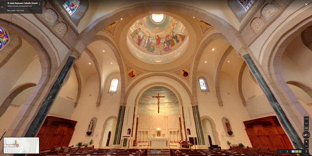 3-D Interactive walk-through of St. John Neumann Catholic Church, Knoxville, Tennessee