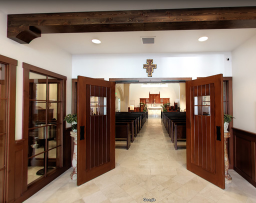 3-D Interactive walk-through of Our Lady of Good Voyage Shrine, Boston MA