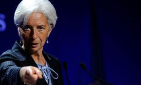 IMF Chief Christine Lagarde. Is she pointing at Mario sitting in the front row?