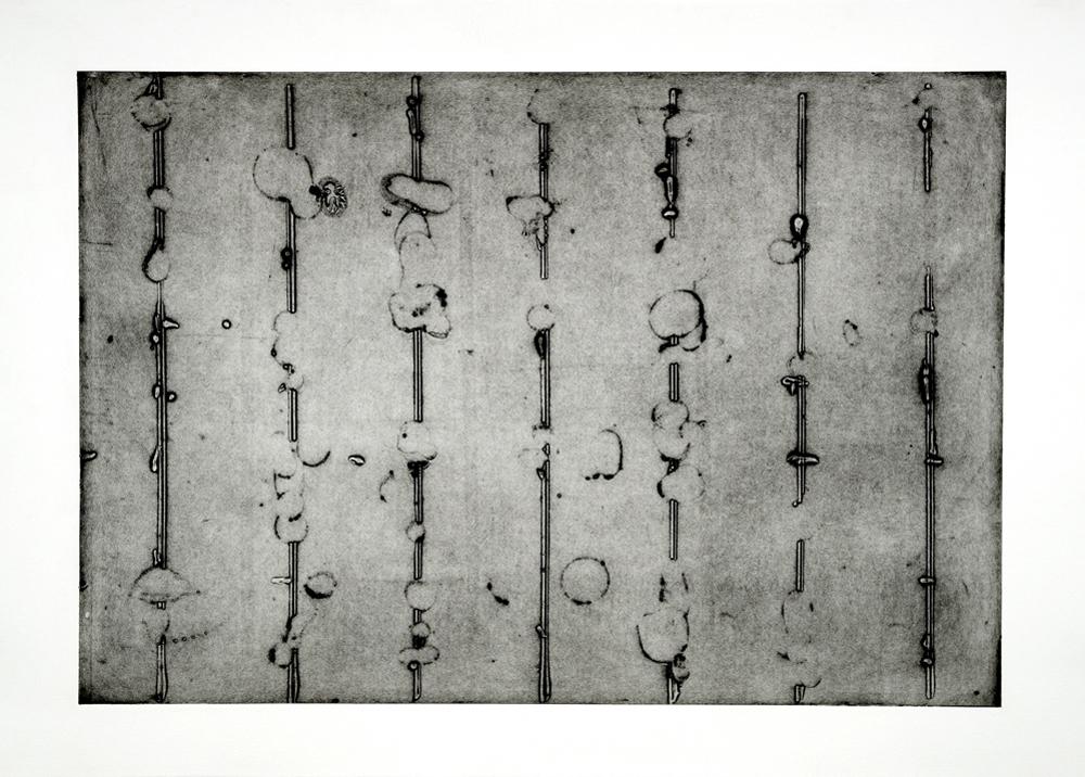 Le grand détour #1, collagraphie sur papier Somerset, 77cm x112cm