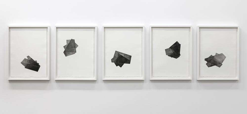 Figure semblable # 1 à 5, eaux-fortes sur papier BFK rives, 2012, 38cm x 50cm (chacune)