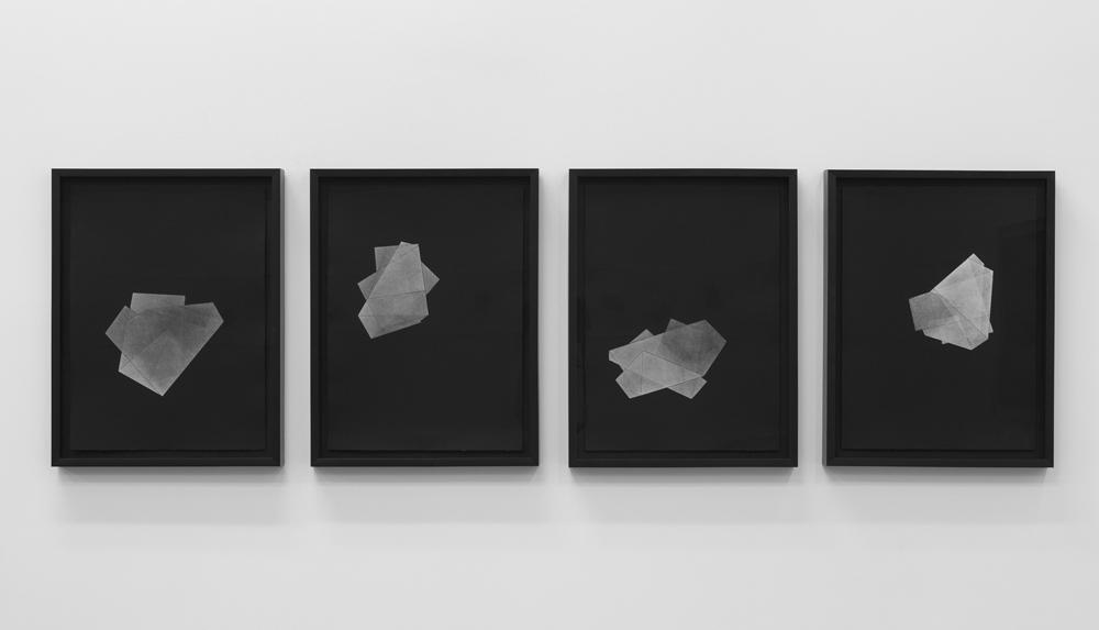 Figure semblable # 6 à 9, eaux-fortes sur papier Canson édition, 2012, 38cm x 50cm (chacune)