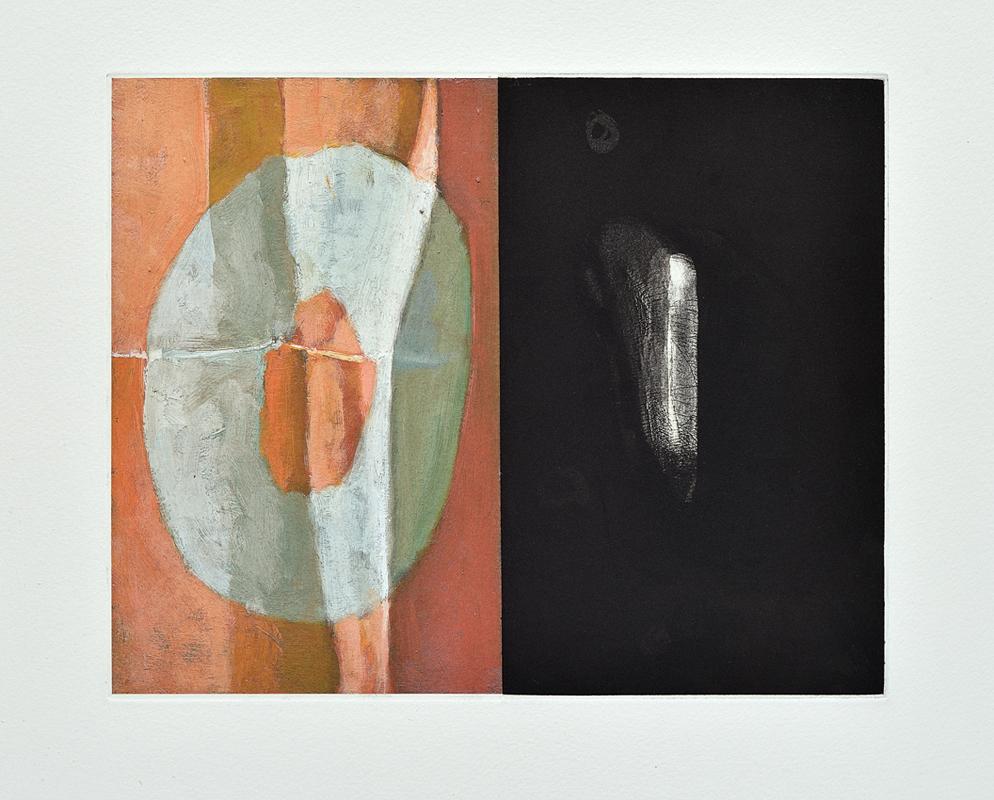 Zéro et un, 2013, 20 x 25.5 cm, aquatinte, eau forte  et impression numérique sur papier japonais