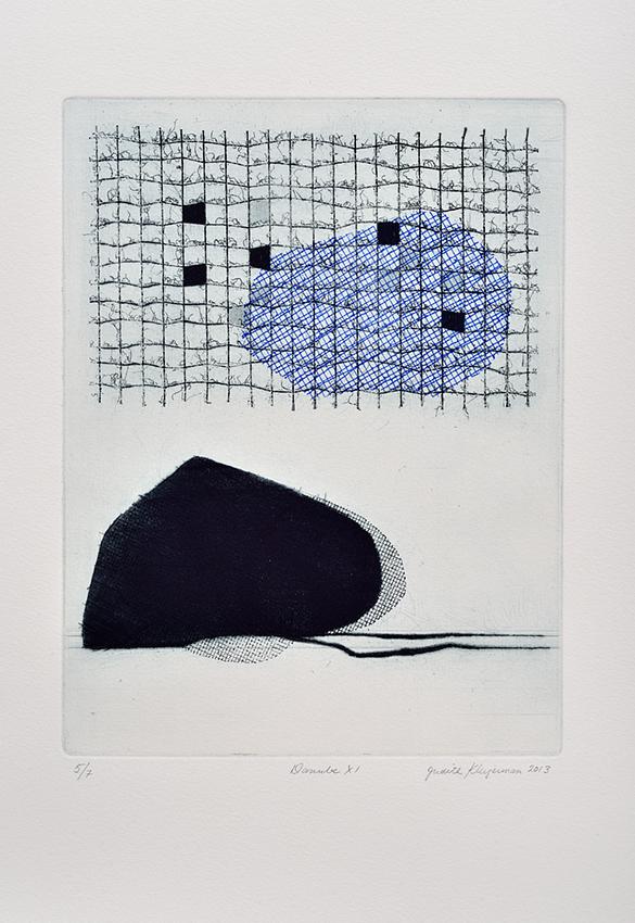 Danube XI   (2013) eau-forte, mezzotinte & collagraphie   52 x 38 cm.