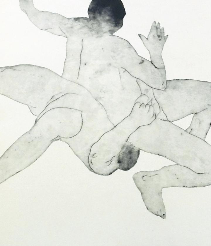 Facteur humain VI2013, Collagraphie sur chine, 1/10, 26 x 33,  Arche
