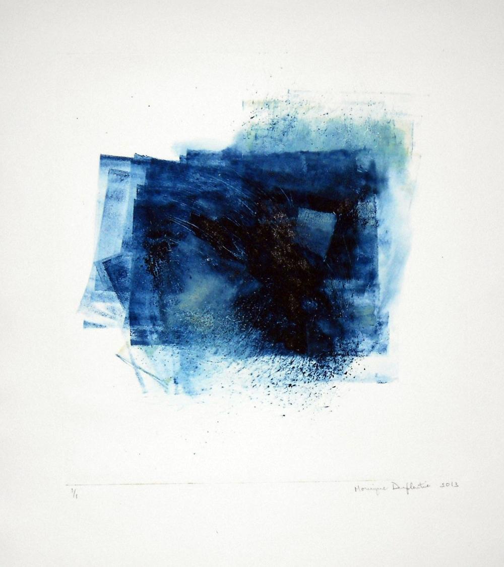 Au fil du bleu, monotype
