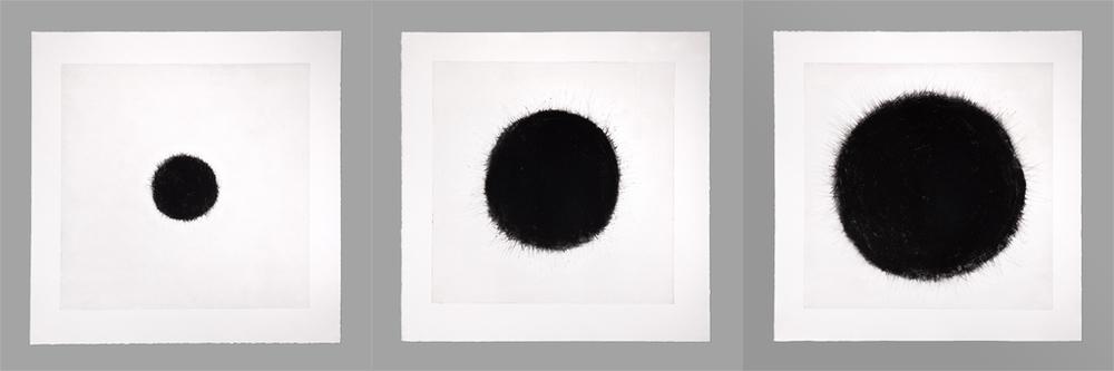 Traces, 2012, Impression taille douce, Triptyque 237 cm x 79 cm