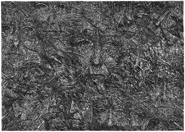 Appearances - 2, technique - linocut, size - 70 x 100 cm, year - 2014.