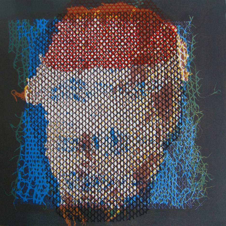 Talleen Hacikyan. Tangerine Portrait IV, Monotype, 48 x 46 cm, 2015