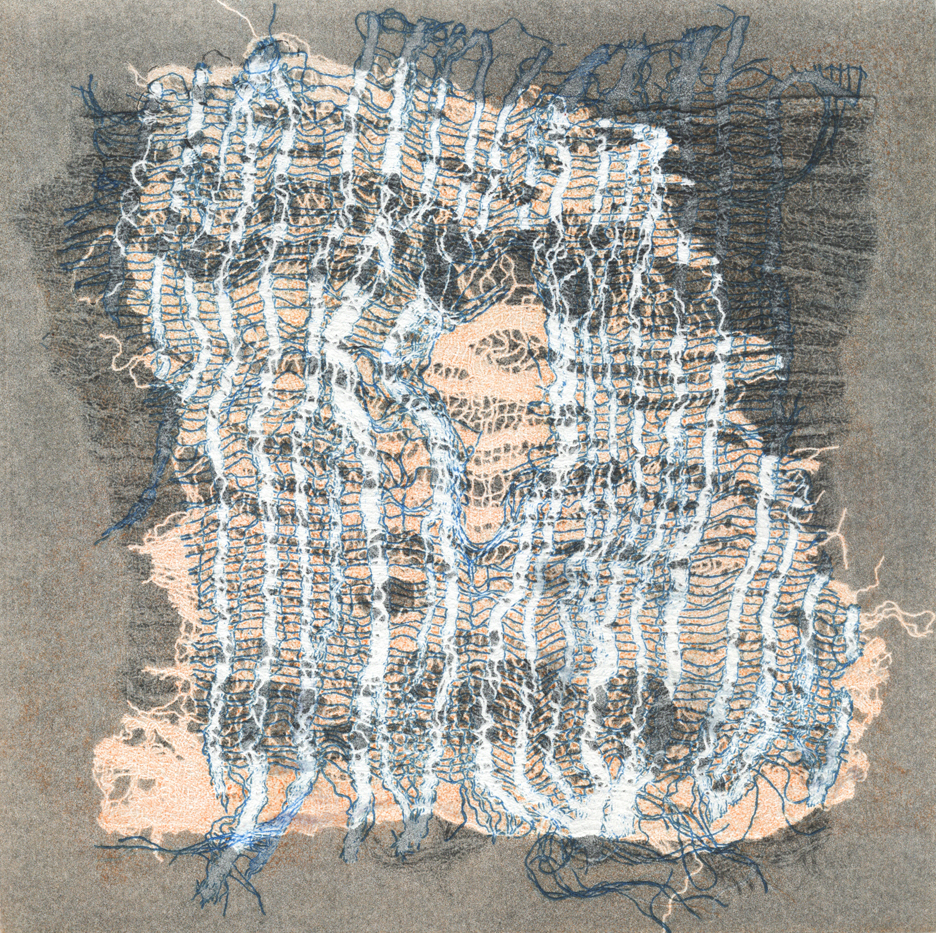 Talleen Hacikyan. Gone to Sea, Monotype, 38 x 28 cm, 2015
