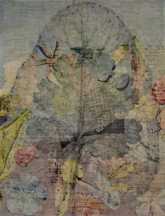 """Burdoch with Flowers"", 2014, tech. mixtes, 65 x 50 cm"