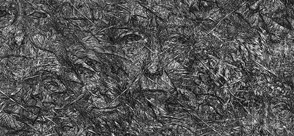 Appearances - 2, linocut, 70 x 100 cm, 2014