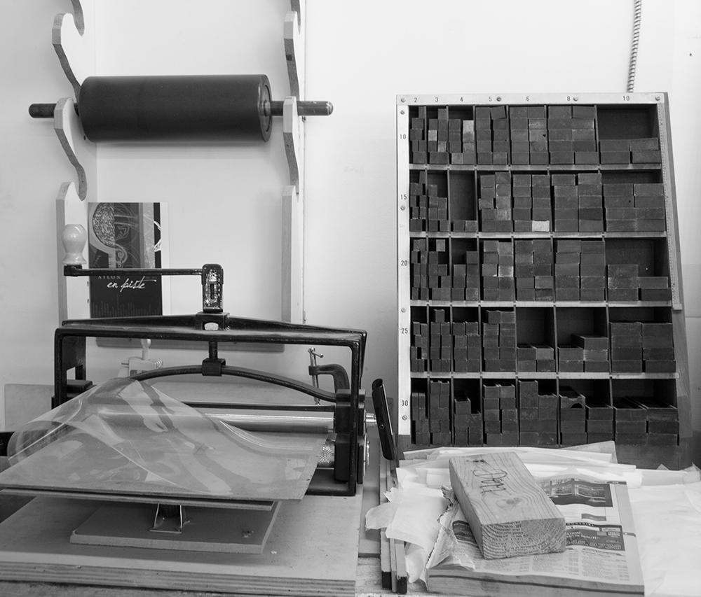 Atelier de relief et typographie