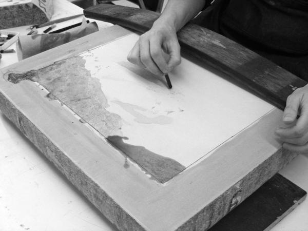 Lithogravure sur pierre