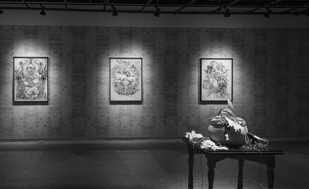 """Exposition """"Floraison"""" de Cynthia Dinan-Mitchell (2017)"""