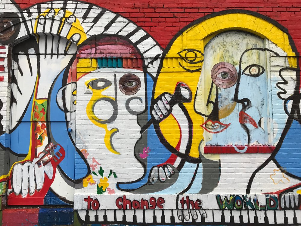 Mural Collaboration with Sorin Bica at Amazing Things Framingham, MA