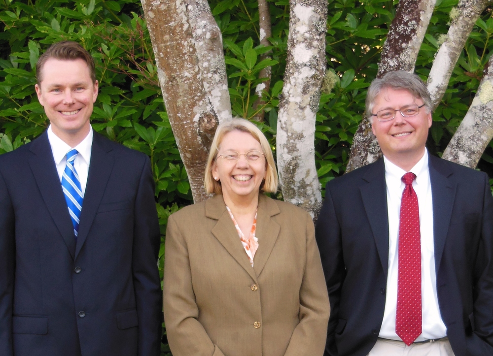 Our attorneys: Ryan Hurley, Jeanne Gale and Arthur Nielsen.