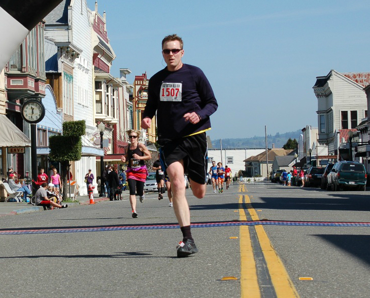 Ryan relaxing in his free time, at the Foggy Bottom run in Ferndale.