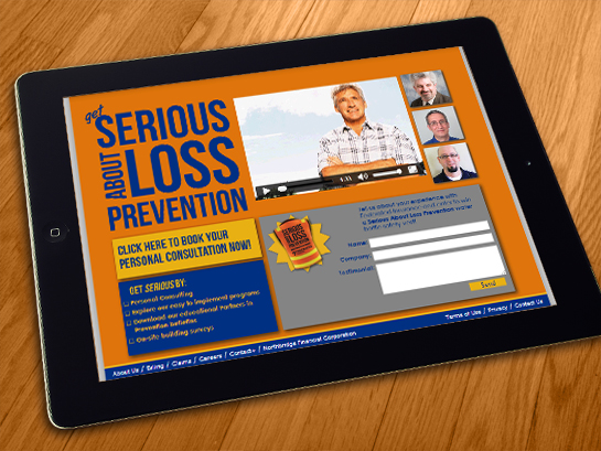 Landing Page: Serious About Loss Prevention