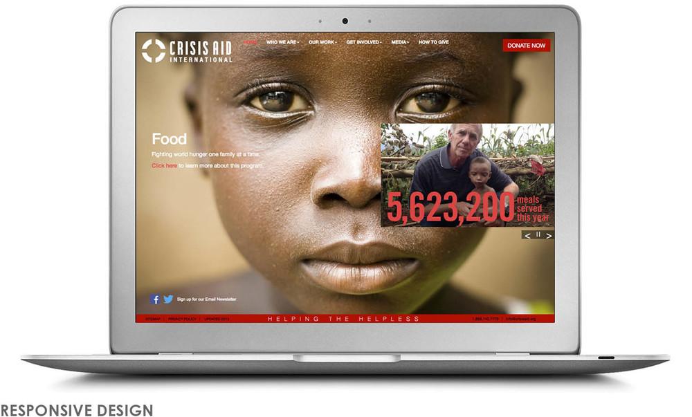Crisis Aid website