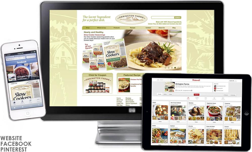 Orrington Farms site & social