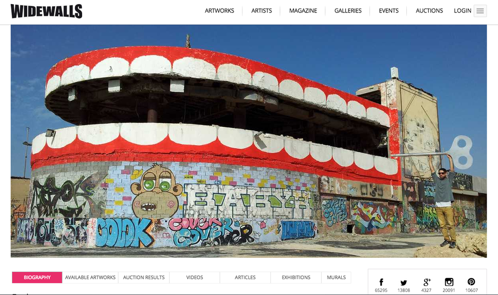 screen shot taken from WideWalls site