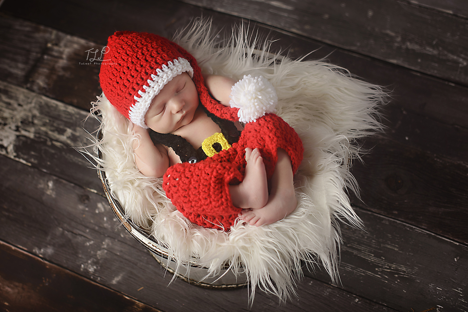 albany newborn photographer santa clause photo