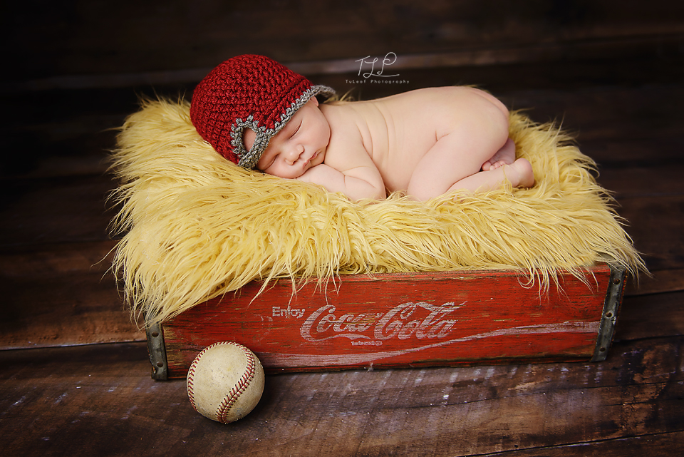 albany newborn photographer baseball prop
