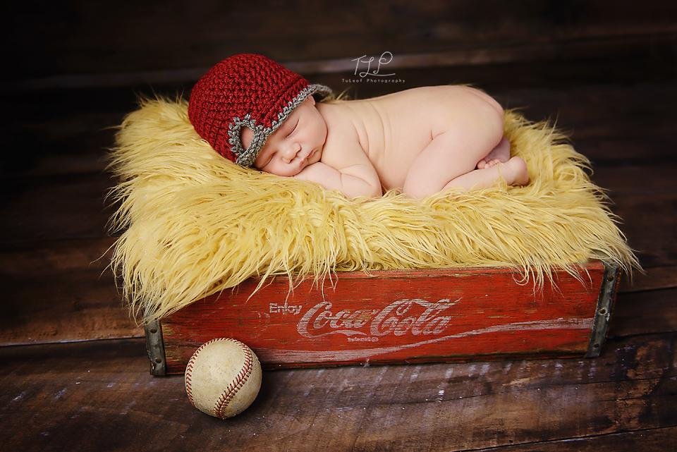 albany newborn photographer baseball prop