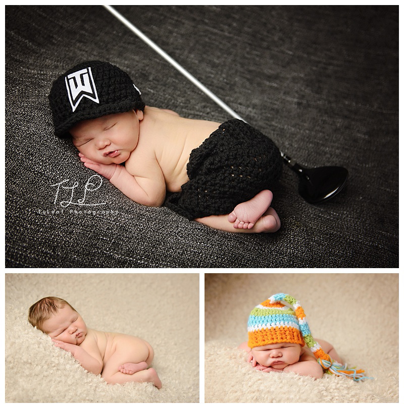 NY newborn photographer albany golf shot
