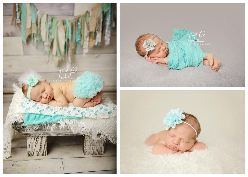 Newborn Baby Photographer Albany mint wrap