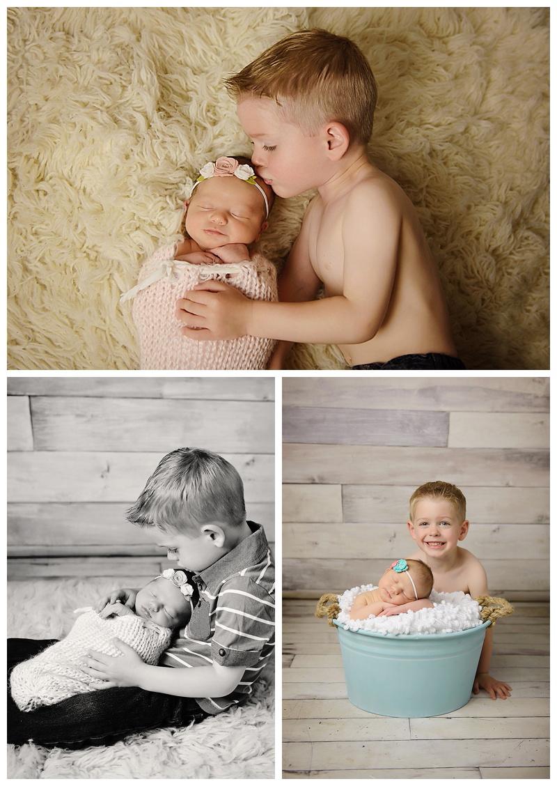 Albany Newborn Photographer Sibling Photo