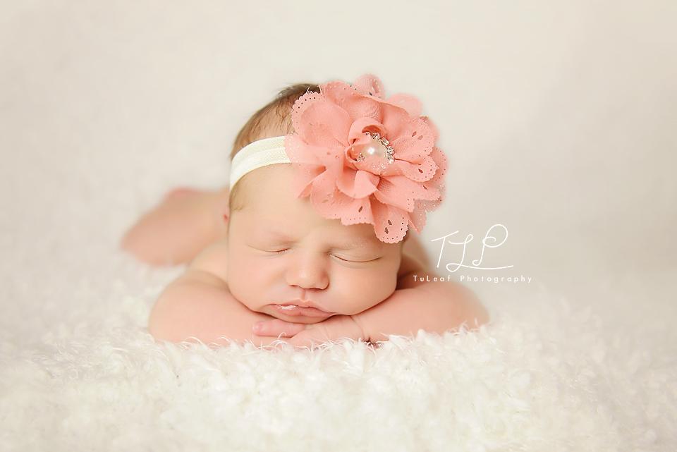 albany newborn photographer peach headband